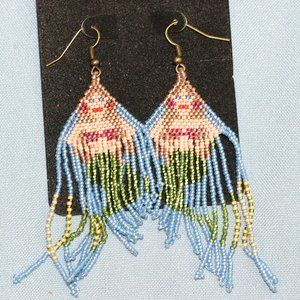 Mermaid Beaded Earrings